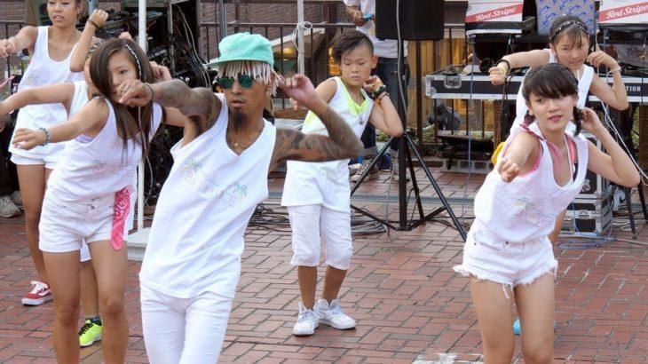 大阪からやって来たすごいレゲエダンサーズ BAD JUSTICE with students ジャマイカフェステイバル
