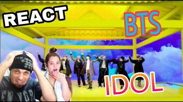 REAGINDO: BTS (방탄소년단) – IDOL (REACT K-POP)