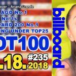 全米ビルボードチャート Billboard HOT100+Bubbling Under25:08/18/2018