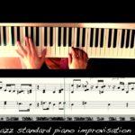all of me jazz standard piano solo improvisation sheet music shingo segawa 4k