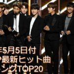2019年5月5日付K-POP最新ヒット曲ランキングTOP20