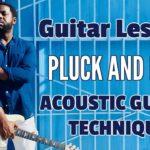 [R&B Acoustic Guitar] Pluck and Pick Technique